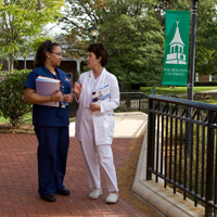 Two Nurses at New Castle Campus