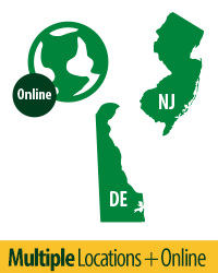 Wilmington University Locations Infographic - Delaware, New Jersey