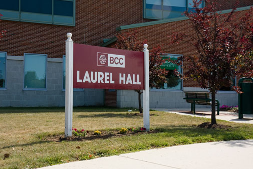 Burlington, Laurel Hall sign