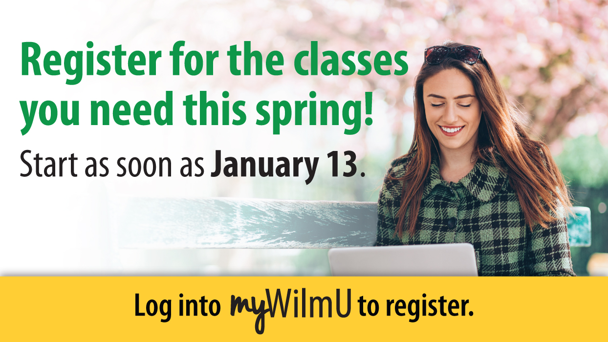 Register for the classes you need.