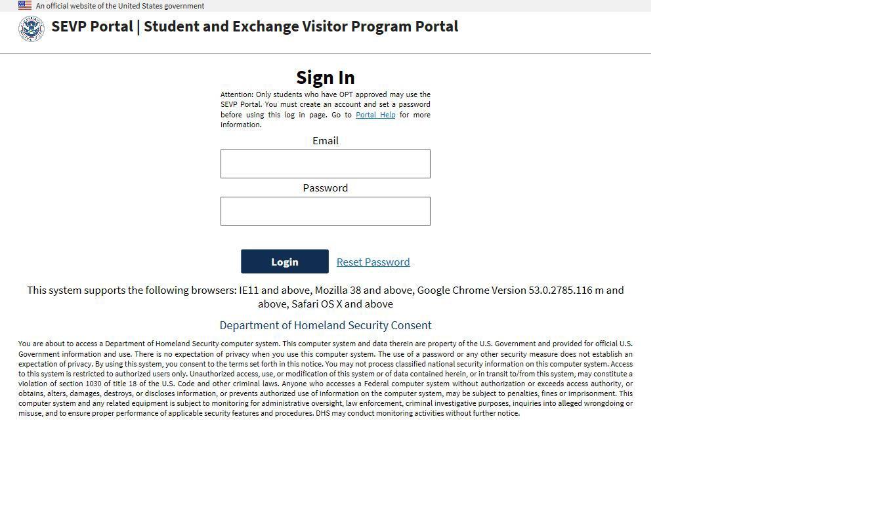 SEVP Portal - Wilmington University