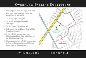 Overflow Parking Map to George Read Elementary