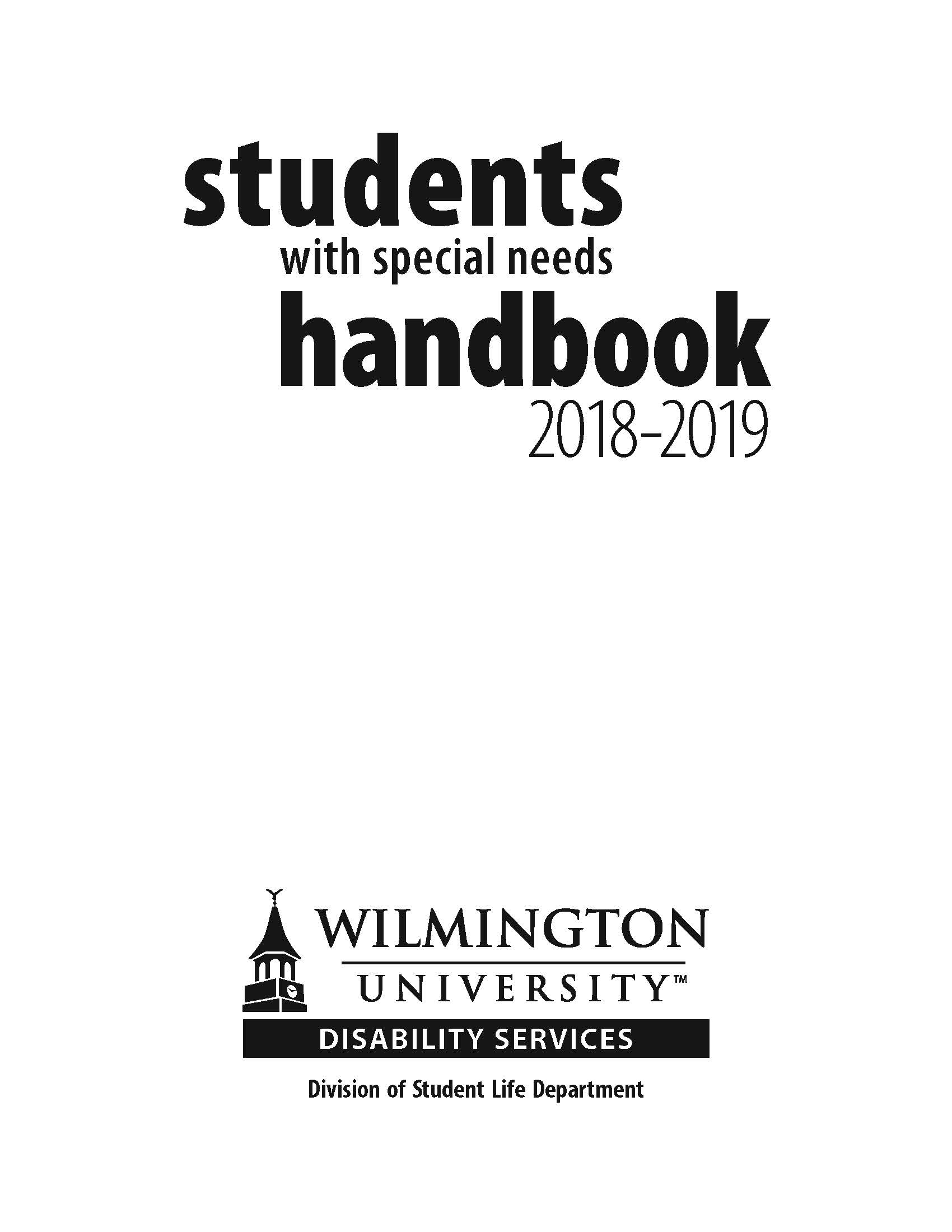 Students with Special Needs Handbook