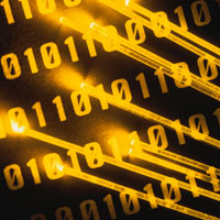 fiber optic cables over binary code